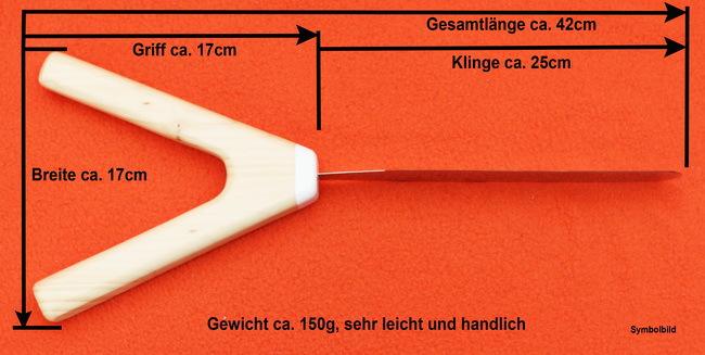 Maße und Gewicht des Hochzeizstortenmessers